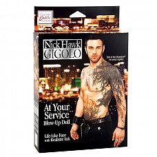Кукла Nick Hawk GIGOLO At Your Service   Хочется чего-то необычного в сексуальном плане? Секс-кукла мужчина, такая эротичная с возбуждающими татуировками, рост которой соответствует росту высокого человека, подарит Вам минуты экстаза.