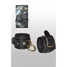Кожаные наручники с круглым карабином Sitabella Gold Collection  Добавьте немного роскоши в свою сексуальную жизнь и покажите кто здесь главный.