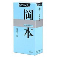 Презервативы в обильной смазке OKAMOTO Skinless Skin Super lubricative - 10 шт  Новая линейка самого известного японского бренда в оригинальной упаковке.