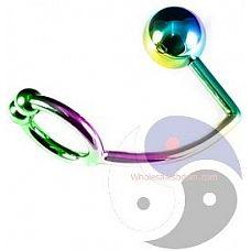 Радужное эрекционное кольцо с анальным плагом Rainbow Horse Shoe Ring with 40mm Diameter Ball  Радужное эрекционное кольцо с анальным плагом Rainbow Horse Shoe Ring with 40mm Diameter Ball.