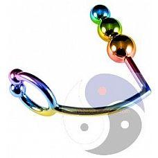 Радужное эрекционное кольцо с анальной ёлочкой Rainbow Horse Shoe Cock Ring with Trio of Anal Balls  Радужное эрекционное кольцо с анальной ёлочкой Rainbow Horse Shoe Cock Ring with Trio of Anal Balls.