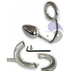 Разборное эрекционное кольцо с анальным плагом 2-Pcs Ring with Egg Asslock  Разборное эрекционное кольцо с анальным плагом 2-Pcs Ring with Egg Asslock.