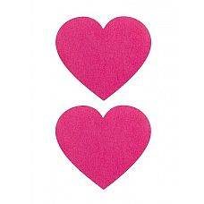 """Пестисы """"Сердечки"""", Белый  Игривыепестисы (наклейки на соски) в виде цветных сердечек."""