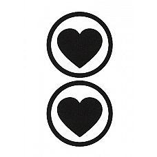 """Пестисы """"Round Hearts"""", Красный  Наклейки-пестисы для украшения сосков, многоразового использования."""