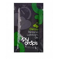 Пробник пролонгирующей смазки JoyDrops Delay - 5 мл.  Помогает отсрочить эякуляцию за счет снижения чувствительности полового органа.