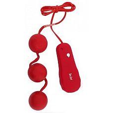 Вагинальные шарики с вибрацией Toy Joy Power Balls   Гламурные шарики дополнены функцией вибрации, управляются при помощи проводного пульта.