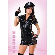 """Костюм """"Эротический полицейский"""" - Le Frivole, M/L, Черный  Эротический полицейский – это не просто очередной костюм для взрослых, это целая философия соблазнения."""