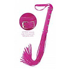 Плеть FF Deluxe Whip   Отличным аксессуаром для коллекции поклонников фетиш-атрибутики станет изящная и стильная плетка FF Deluxe Whip ярко розового цвета.