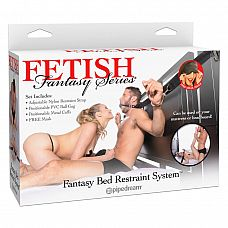 Набор для фиксации с металлическими наручниками и кляпом Fantasy Bed Restraint System   Набор подобран таким образом, чтобы БДСМ-сессия с его применением была максимально приятна для всех ее участников.