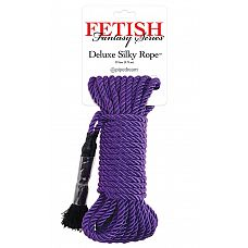 Фиолетовая веревка для фиксации Deluxe Silky Rope - 975 см.  Фиолетовая веревка для фиксации Deluxe Silky Rope.