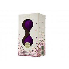 Фиолетовые вагинальные шарики U-tone   Изготовлены из безопасного силикона, который является 100% водонепроницаемым.