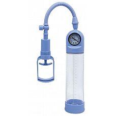 Голубая вакуумная помпа A-toys с манометром и прозрачной колбой  Голубая вакуумная помпа A-toys с манометром и прозрачной колбой.