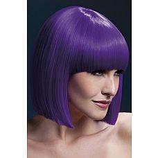 Сиреневый парик с графичным каре Lola  Сиреневый парик с графичным каре Lola