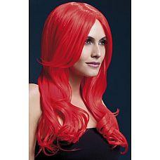Красный парик с длинной челкой Khloe  Красный парик с длинной челкой Khloe.