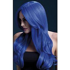 Синий парик с длинной челкой Khloe  Синий парик с длинной челкой Khloe.