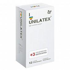 Разноцветные ароматизированные Unilatex Multifruit  - 12 шт. + 3 шт. в подарок  Презервативы стандартного размера, гладкая поверхность, эргономичной формы, цветной латекс красного, желтого и синего цветов, в натуральной гипоаллергенной смазке на основе силиконового масла с ароматом клубники, банана и мультифрукта.