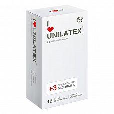 Ультратонкие презервативы Unilatex Ultra Thin - 12 шт. + 3 шт. в подарок  Классические презервативы ультратонкого размера, гладкая поверхность, латекс телесного цвета, эргономичной формы, в натуральной гипоаллергенной смазке на основе силиконового масла.