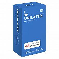 Классические презервативы Unilatex Natural Plain - 12 шт. + 3 шт. в подарок  Классические презервативы стандартного размера, гладкая поверхность, латекс телесного цвета, эргономичной формы, в натуральной гипоаллергенной смазке на основе силиконового масла.