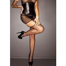 Платье с чулками и стрингами - Iris premium (Dark Desire collection), M, Черный  Демонически сексуальный комплект - дерзкое платье, дополненное чулками истрингами.