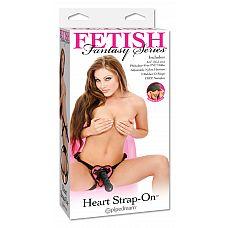 Страпон Heart Fetish Fantasy Pink, 19 см., Черный  Страпон черного цвета, выполненный из ПВХ.