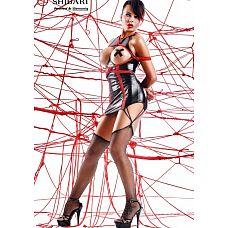 Платье с открытой грудью Yuriko с веревками для связывания (Shibari), M, Черный  В комплект входит:   платье трусики чулки 2 веревки для связывания (8м)   Yuriko - это сексуальное черное платье, с впечатляющими красными вставками спереди и сзади.