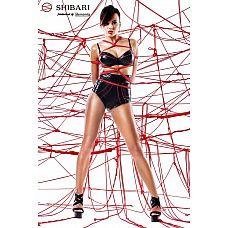 Комплект Shinju: лиф, высокие трусики и верёвки для связывания   Комплект Shinju: лиф, высокие трусики и верёвки для связывания.