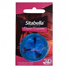 Насадка стимулирующая Sitabella 3D  Секрет амаретто  с ароматом амаретто  Sitabella 3D - высококачественные насадки, изготовленные из гипоаллергенного латекса, с накопителем и эластичными усиками, в обильной силиконовой смазке.