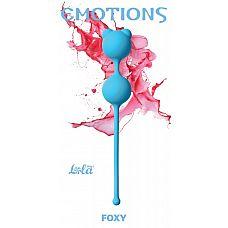 Голубые вагинальные шарики Emotions Foxy  Вагинальные шарики Foxy легко и приятно использовать для интенсивной тренировки влагалища и массажа внутренних областей малого таза.