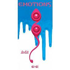 Розовые вагинальные шарики Emotions Gi-Gi  Вагинальные шарики Gi-Gi из серии Emotions - это изысканные, гипоаллергенные шарики со смещенным центром тяжести, которые помогут Вам изучить свое тело и подготовить к незабываемым эмоциям с партнером.