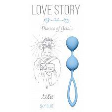 Голубые вагинальные шарики Diaries of a Geisha  Парные вагинальные шарики станут надежным «тренером» для женщин, желающих вернуть вагинальным мышцам былые упругость и эластичность.