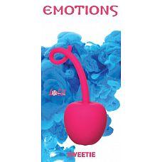 Розовый стимулятор-вишенка со смещенным центром тяжести Emotions Sweetie  Интимный аксессуар Sweetie со смещенным центром тяжести изготовлен из силикона и выполнен в форме вишенки, что позволяет использовать его как для укрепления вагинальных мышц, так и в качестве анального стимулятора.