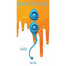 """Вагинальные шарики Emotions Gi-Gi turquoise 4003-03Lola  """"Вагинальные шарики Gi-Gi из серии Emotions - это изысканные, гипоаллергенные шарики со смещенным центром тяжести, которые помогут Вам изучить свое тело и подготовить к незабываемым эмоциям с партнером."""
