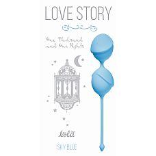 """Вагинальные шарики Love Story One Thousand and One Nights Sky Blue 3004-04Lola  """"Вагинальные шарики One Thousand and One Nights из серии Love Story - это изысканные , шелковистые шарики, которые помогут Вам изучить свое тело и подготовить к незабываемым эмоциям с партнером."""