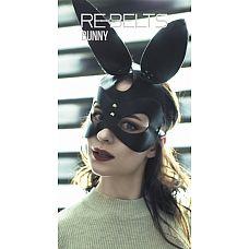 """Маска Bunny Black 7719rebelts  """"Черная маска кролика из кожи."""