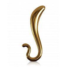 Стеклянный стимулятор для точки G Icicles Gold Edition - G02 (Pipedream), Золотой  Удивительной красоты стимулятор, который не просто эффективен для массажа точки G, но и просто красив для того, чтобы оставить его на полке с сувенирами.