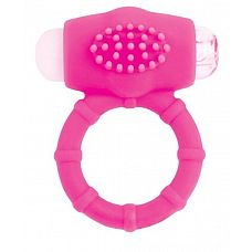 Розовое эрекционное виброкольцо A-toys  Силиконовое виброкольцо А-Toys позволит вам усилить ощущения и получить совместное удовольствие от секса.