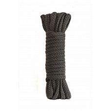 Серая веревка Bondage Collection Grey - 3 м.  Серая веревка из полиэфира для связывания партнера.