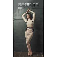 Портупея 3-в-1 Elle Black с оборками  Стильная кожаная портупея с оборками станет отличным аксессуаром для Вас.