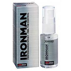 Пролонгатор-спрей для мужчин IRONMAN Spray - 30 мл.  Новый EROpharm IRONMAN Intimate Care - спрей, который может обеспечить большую выносливость, бодрость и силу во время любовных игр.