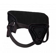 Чёрный страпон Deluxe Silicone Strap On 8 Inch - 20,5 см.  Войди в своего любовника со Strap-on от Ouch! Возбуждающую насадку фаллической формы можно отстегнуть от пояса.