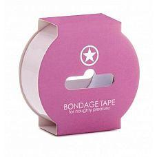 Нежно-розовая липкая лента Non Sticky Bondage Tape - 17,5 м.  Non Sticky Bondage Tape подойдет как для начинающих, так и для истинных ценителей игр в стиле  бандаж .