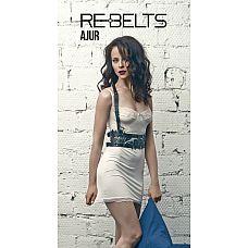 Портупея-пояс Ajur - Rebelts, One Size, Черный  Стильная кожаная портупея станет отличным аксессуаром для Вас.