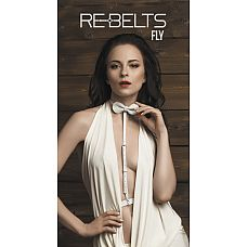 Портупея-чокер Fly White - Rebelts, One Size, Белый  Стильная кожаная портупея-чокер станет отличным аксессуаром для Вас.