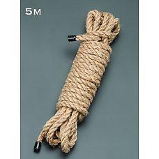 Пеньковая верёвка для бондажа - 5 м.  Пеньковая верёвка для бондажа.