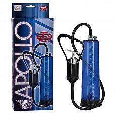 Вакуумная помпа Apollo Premium, Синий  Вакуумная помпа Apollo Premium – это аксессуар для настоящих мужчин.