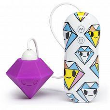 Фиолетовый клиторальный стимулятор-бриллиант SILICONE PURPLE DIAMOND CLITORAL VIBRATOR  Фиолетовый клиторальный стимулятор-бриллиант SILICONE PURPLE DIAMOND CLITORAL VIBRATOR.