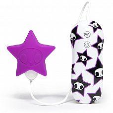 Фиолетовый клиторальный стимулятор-звезда SILICONE PINK STAR CLITORAL VIBRATOR  Фиолетовый клиторальный стимулятор-звезда SILICONE PINK STAR CLITORAL VIBRATOR.