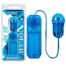Голубое виброяйцо Volar  с выносным пультом управления  Классическое виброяйцо кристально-голубого цвета с пультом управления.