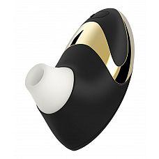 Чёрно-золотой бесконтактный вакуумный стимулятор клитора Womanizer W500 Pro  Не успели создатели Womanizer влюбить в своё изобретение прекрасную половину человечества, как свет увидела усовершенствованная версия бестселлера - W500 Pro в элегантном корпусе чёрного цвета с изысканным золотым (18 карат) декором на рукояти.