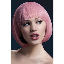 Парик каре Миа (розовый) (Fever)   Если хотите быстро сменить имидж, парик – это то, что Вам нужно!  Красивый парик отличного качества.
